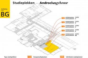 Plattegrond Androclusgebouw / Map Androclus building
