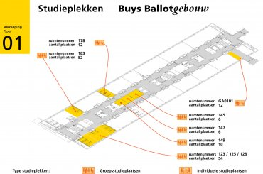 Plattegrond Buys Ballotgebouw / Map Buys Ballot building