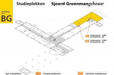 Plattegrond Sjoerd Groenmangebouw / Map Sjoerd Groenman building