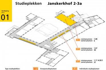 Plattegrond Janskerkhof 2-3a - eerste verdieping