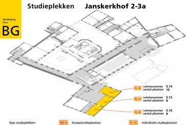 Plattegrond Janskerkhof 2-3a - tweede verdieping