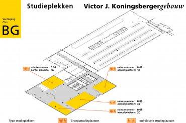 Plattegrond Koningsbergergebouw - begane grond / Map Koningsberger building - groundfloor