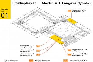 Plattegrond Langeveldgebouw / Map Langeveld building