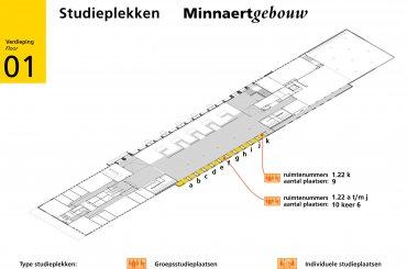 Plattegrond Minnaertgebouw - eerste verdieping / Map Minnaert building - first floor