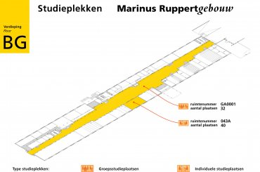 Plattegrond Ruppertgebouw / Map Ruppert building