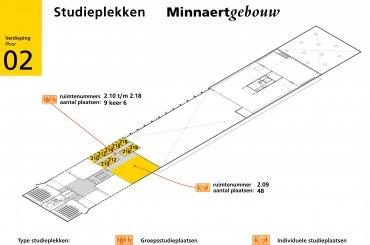 Plattegrond Minnaertgebouw - tweede verdieping / Map Minnaert building - second floor