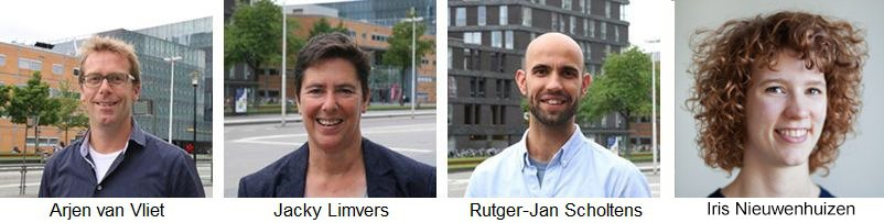 Career Officers Arjen Van Vliet, Jacky Limvers, Rutger-Jan Scholtens en Iris Nieuwenhuizen
