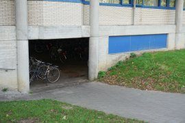 The bicycle parking at Androclus