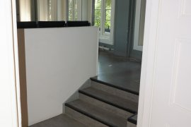 Stairs to the lecture hall at Bijhouwerstraat 6