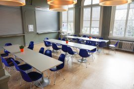 The lunch room at the ground floor in Bijlhouwerstraat 6
