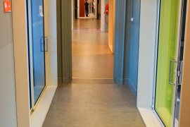 Hallway at the ground floor of Bijlhouwerstraat 6