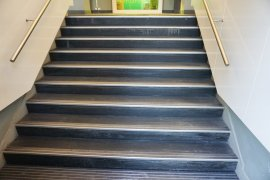 Stairs after main entrance of Bijlhouwerstraat 6