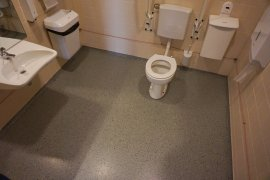 The accessible toilet in Bolognalaan 101