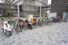 Bicycle parking at the Caroline Bleeker building