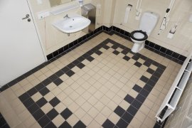 The accessible toilet of Descartes Hall