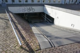 Bicycle parking lot at Drift 27 - University Library City Centre