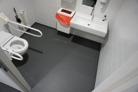 The accessible toilet at the Earth Simulation Lab