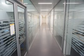 The hallway in Earth Simulation Lab