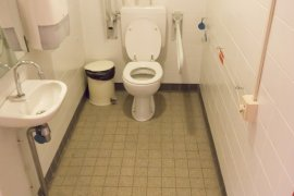 The accessible toilet in the Hans Freudenthal building.