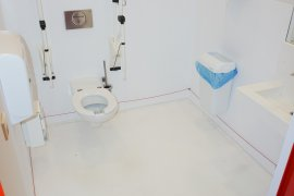 The accessible toilet at the Hijmans van den Bergh building