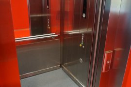Elevator in the Hijmans van den Bergh building