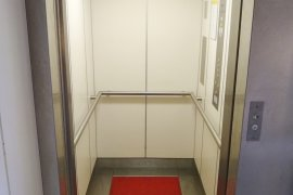 The elevator at Janskerkhof 13a