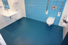 Accessibe toilet at Kromme Nieuwegracht 80