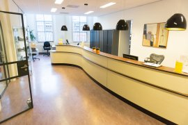 Front desk at Kromme Nieuwegracht 80