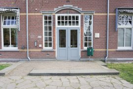 The main entrance of Locke Hall