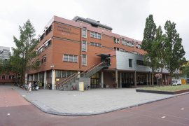 Front view of the Martinus J. Langeveld building