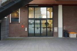 The alternative entrance of the Martinus J. Langeveld building