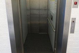 The elevator of the Martinus J. Langeveld building