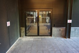 The alternative entrance from the bicycle cellar behind the Minnaert building