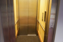 The elevator near the main entrance of the Marinus Ruppert building