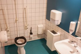 One of the accessible toilets at the Marinus Ruppert building
