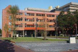 Front view of the Sjoerd Groenman building