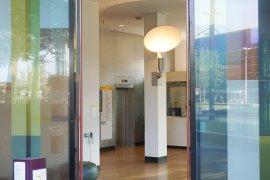 The alternative entrance of the Sjoerd Groenman building