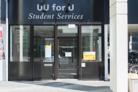 The main entrance of UU for U, Student Services