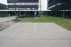 The parking space for the disabled, in front of the Venig Meinesz building