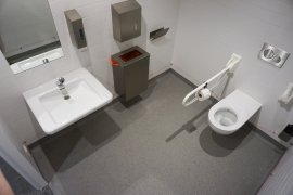 The accessible toilet of the Venig Meinesz building A