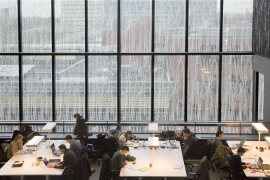 Bovenaanzicht studeerplekken UB Science Park