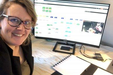 Onderwijsontwikkelaar Janine Geerling ontwerpt een LabBuddy-module