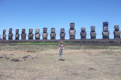 Rapa Nui's famous statues.