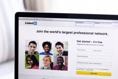 Laptop LinkedIn ingezoomd
