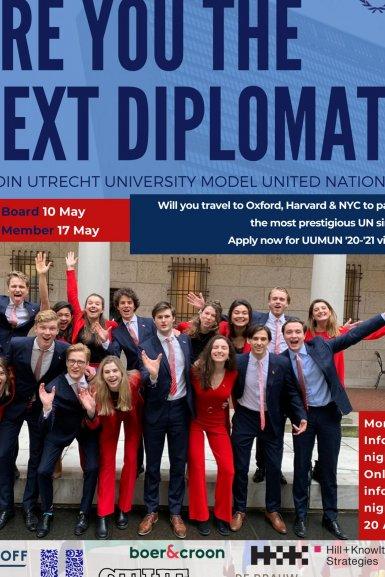 Join Utrecht University Model United Nations