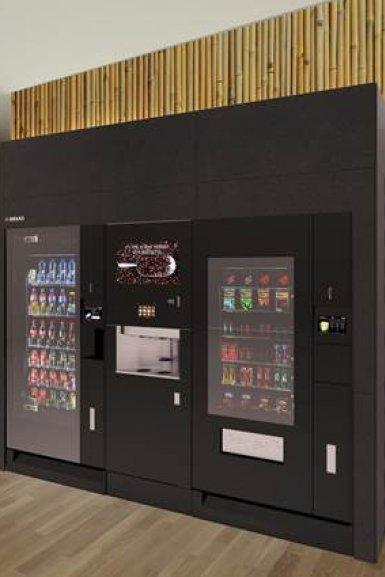 Koffie-, frisdrank- en snoepautomaat